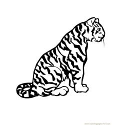 Tiger new 52 Free Coloring Page for Kids