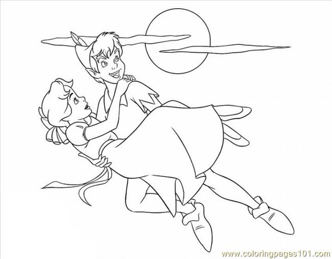 Ter Pan And Tinkerbell 12 Lrg Coloring Page
