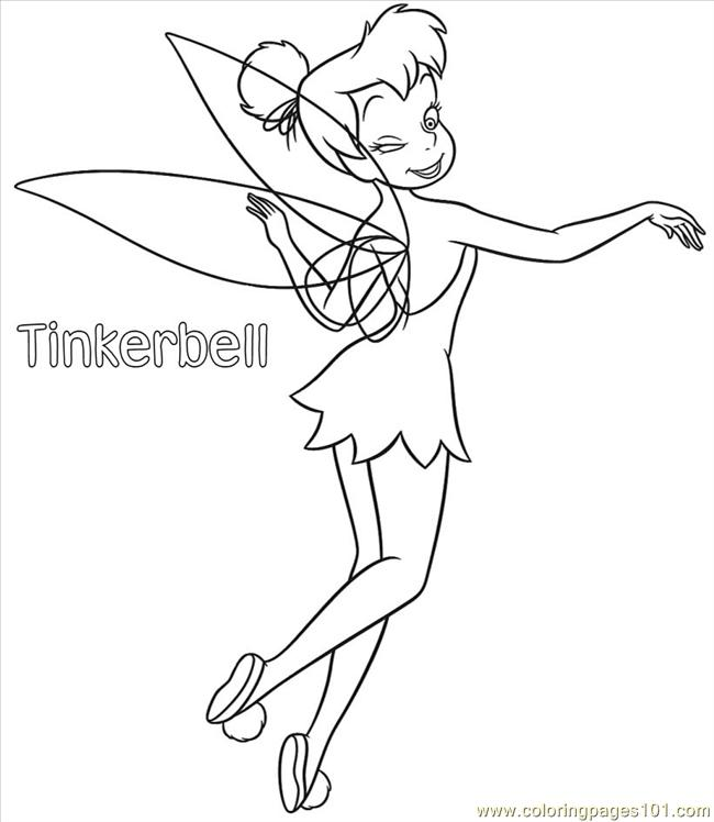 Tinkerbell Coloring Pages 01 Coloring Page