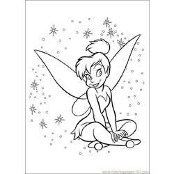 TinkerBell Free Coloring Page for Kids