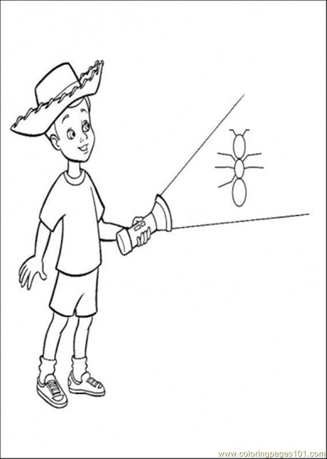 Andy Is Holding A Lamp Coloring Page - Free Toy Story Coloring ...