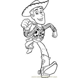 Toy Story Woody Free Coloring Page for Kids
