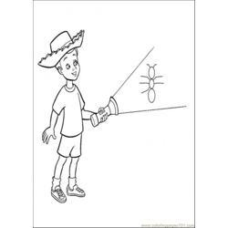 Andy Is Holding A Lamp Free Coloring Page for Kids
