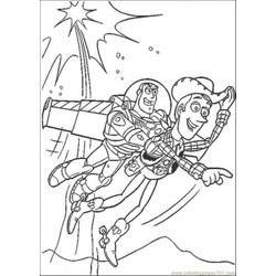 Sheriff Woody And Buzz Lightyear Free Coloring Page for Kids