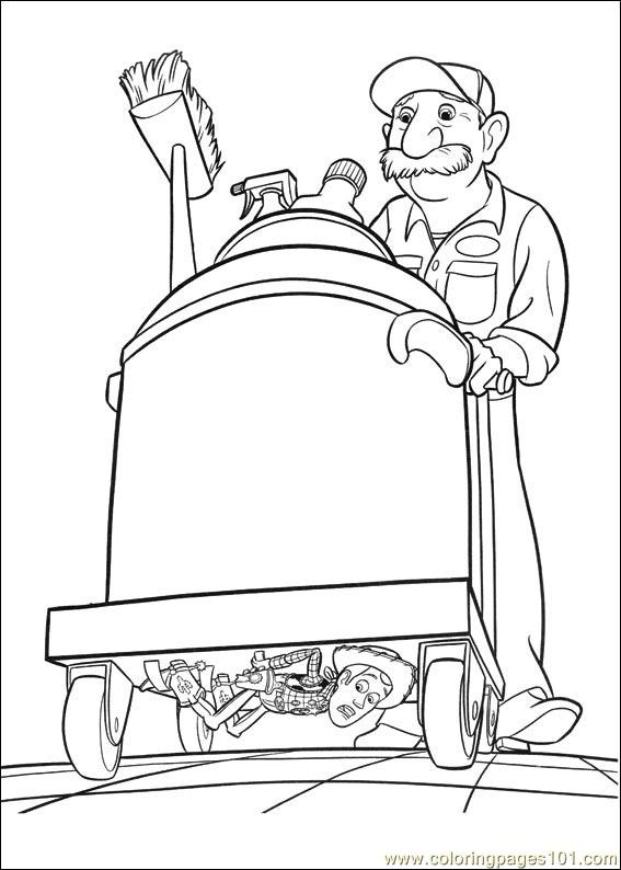 Toy Story 3 09 Coloring Page