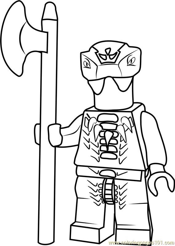 Ninjago Fang Suei Coloring Page Free Lego Ninjago