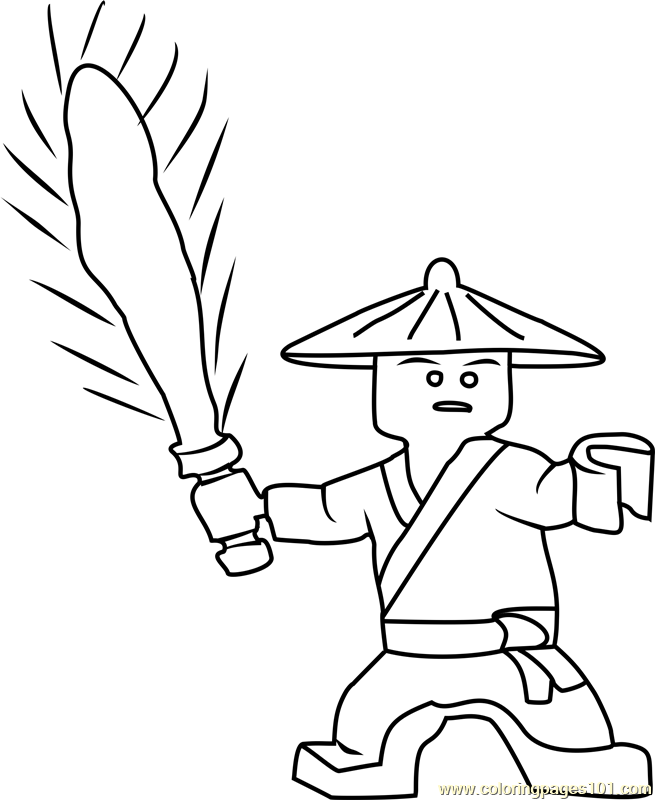 Ninjago First Spinjitzu Master Coloring Page