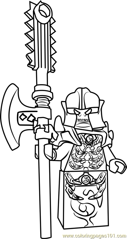 The Golden Ninja Coloring Pages