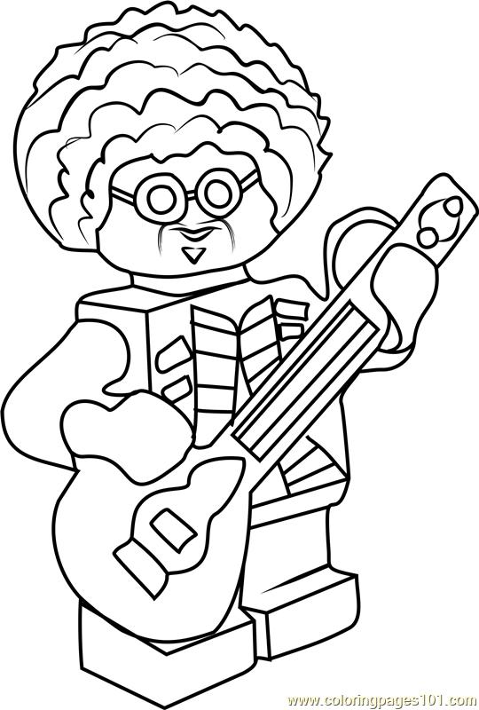 Ninjago Jacob Pevsner Coloring Page Free Lego Ninjago