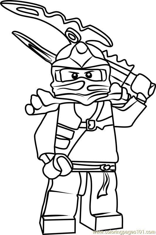 Ninjago Jay Coloring Page Free Lego Ninjago Coloring