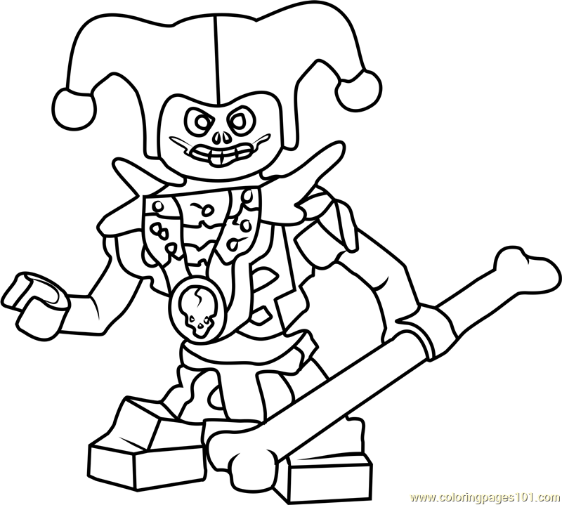 Ninjago Krazi Coloring Page