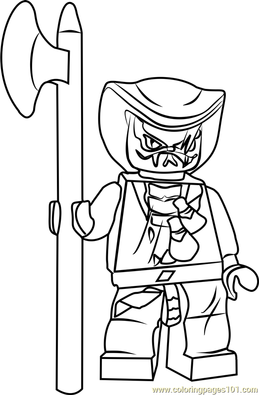 Ninjago Lasha Coloring Page Free