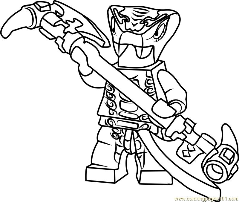 lego ninjago snake coloring pages | Ninjago Mezmo Coloring Page - Free Lego Ninjago Coloring ...