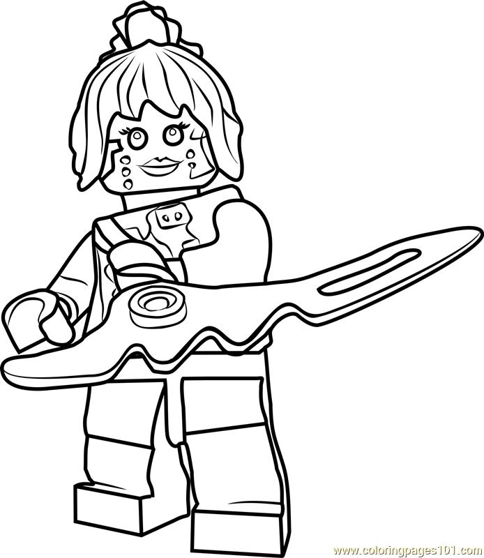 ninjago pixal coloring page for kids  free lego