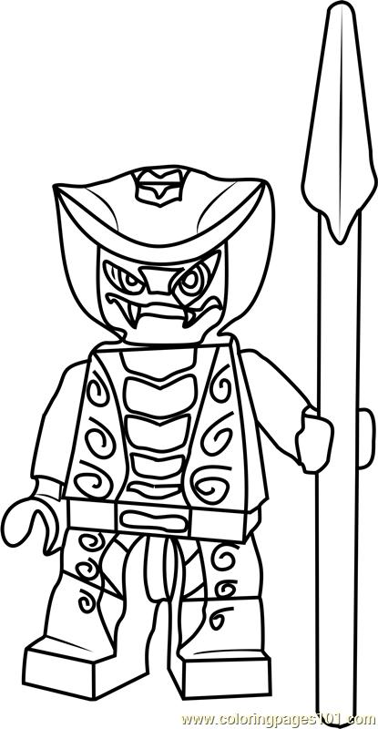 Ninjago Rattla Coloring Page Free Lego Ninjago Coloring