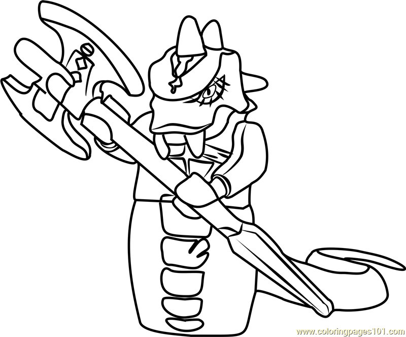 Lego Ninjago Serpentine Pages Coloring Pages