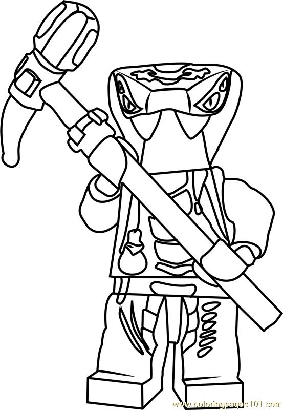 Ninjago Spitta Coloring Page