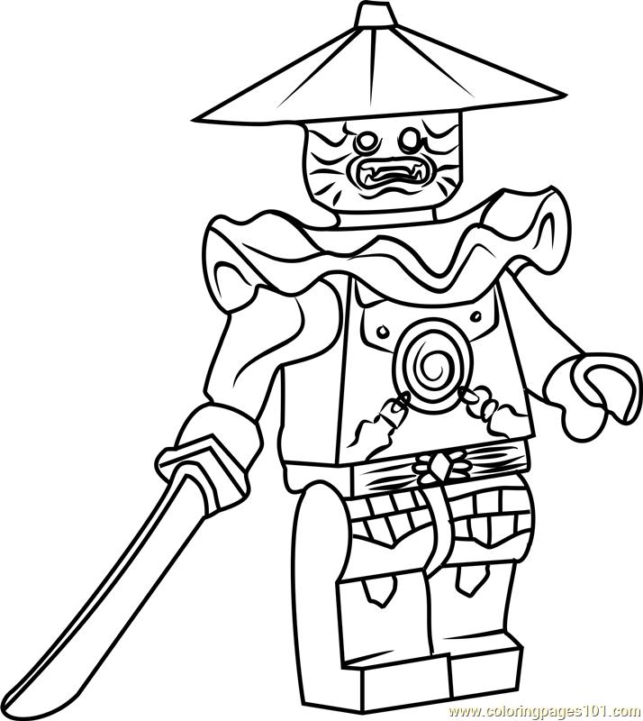 Ninjago Stone Swordsman Coloring