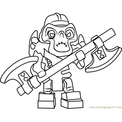 Ninjago Kruncha Free Coloring Page for Kids