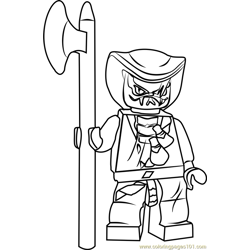 Ninjago Lasha Free Coloring Page for Kids