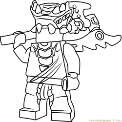 Ninjago Lizaru Free Coloring Page for Kids
