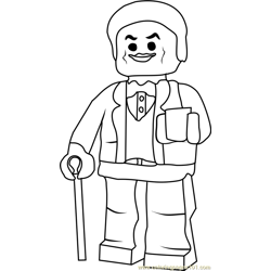 Ninjago Lou Free Coloring Page for Kids