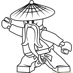 Ninjago Master Wu Free Coloring Page for Kids