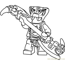 Ninjago Mezmo Free Coloring Page for Kids
