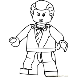 Ninjago Neuro Free Coloring Page for Kids