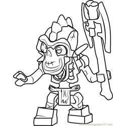 Ninjago Nuckal Free Coloring Page for Kids