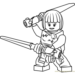 Ninjago Nya Free Coloring Page for Kids