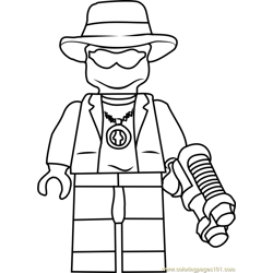 Ninjago Paleman Free Coloring Page for Kids