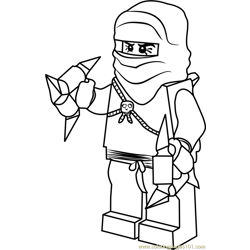 Ninjago Phantom Ninja Free Coloring Page for Kids