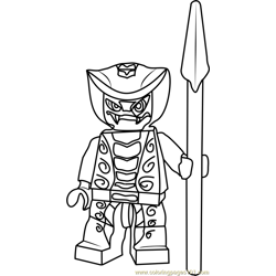 Ninjago Rattla Free Coloring Page for Kids