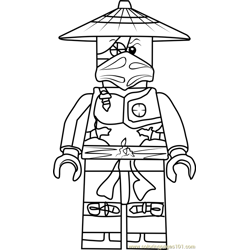 Ninjago Ronin Free Coloring Page for Kids