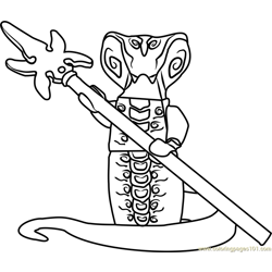 Ninjago Skales Free Coloring Page for Kids