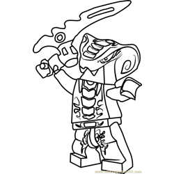 Ninjago Slithraa Free Coloring Page for Kids
