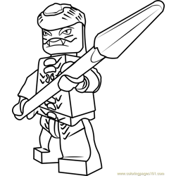Ninjago Snappa Free Coloring Page for Kids