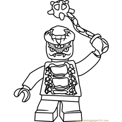 Ninjago Snike Free Coloring Page for Kids