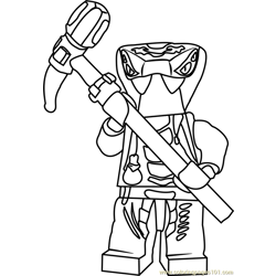Ninjago Spitta Free Coloring Page for Kids