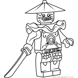Ninjago Stone Swordsman Free Coloring Page for Kids