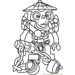 Ninjago Wyplash Free Coloring Page for Kids