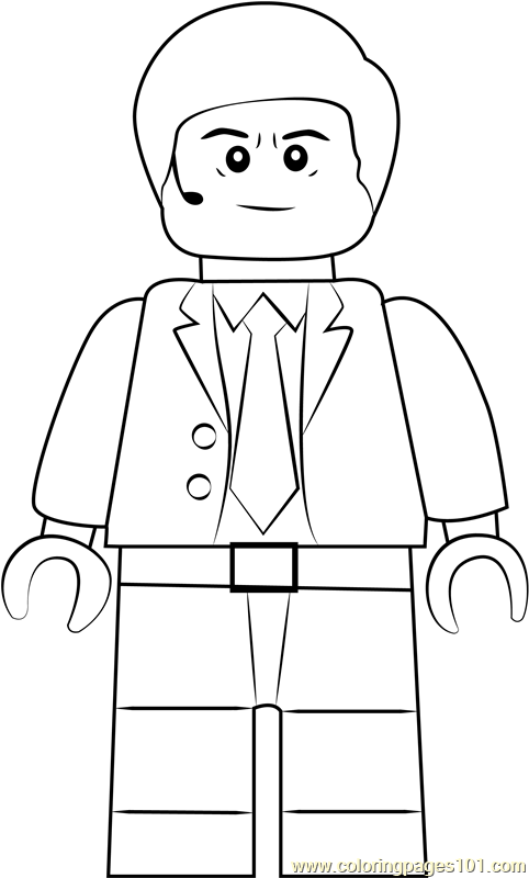 Lego Agent Coulson Coloring Page - Free Lego Coloring ...
