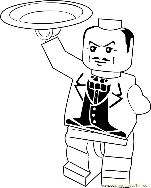 Lego Alfred Pennyworth Coloring Page Free Lego Coloring Pages Coloringpages101 Com