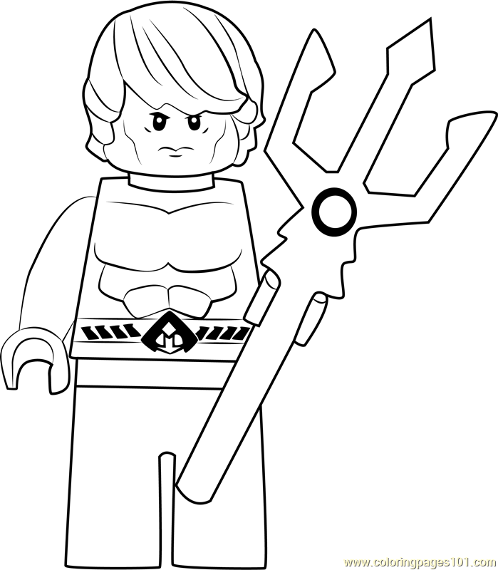 Lego Aquaman Coloring Page Free