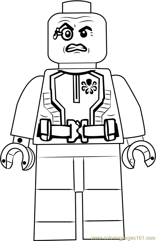 Lego Baron Wolfgang von Strucker Coloring Page - Free Lego