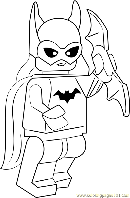 Lego Batgirl Coloring Page Free Lego Coloring Pages