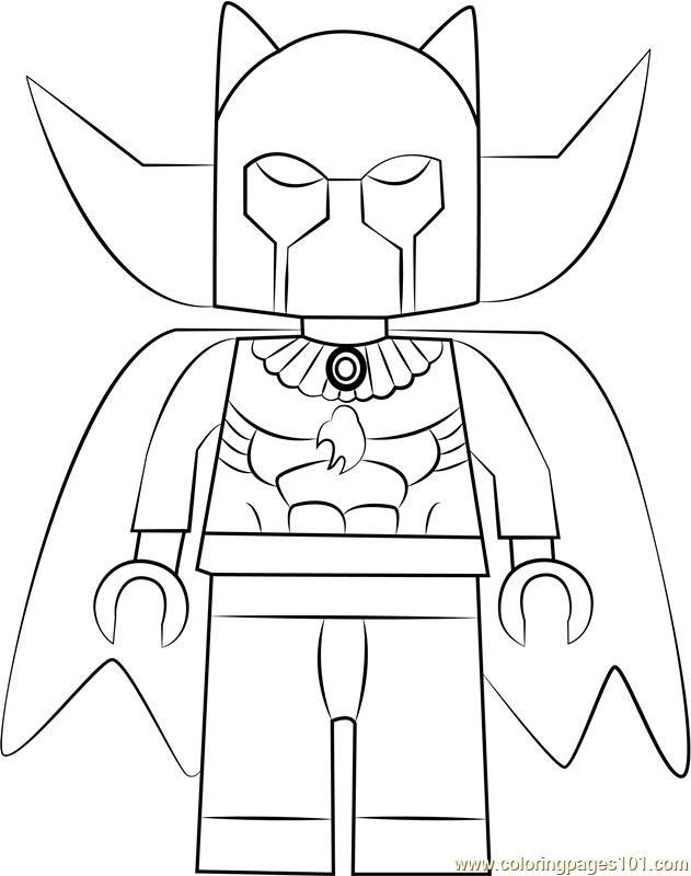 Lego Black Panther Coloring Page