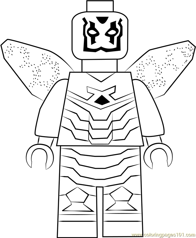 Lego Blue Beetle Coloring Page