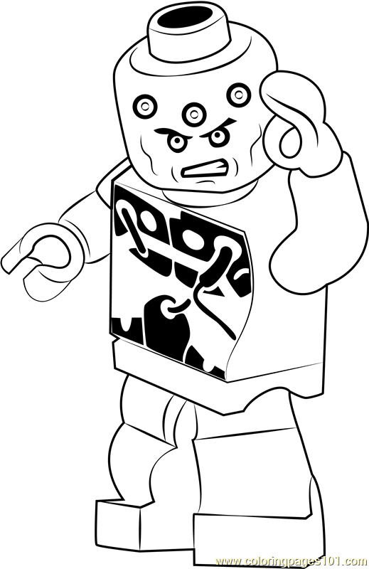 Lego Brainiac Coloring Page Free Lego Coloring Pages Coloringpages101 Com